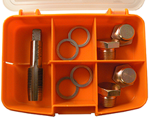 Drain plug screw thread repair set